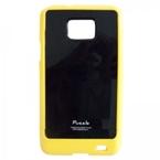 Husa telefon Samsung i9100 galaxy s2 puzzle yellow/black