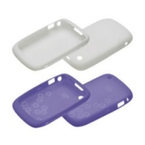 Set Huse BlackBerry Curve 8520 Skin, ACC-37900-202 - White/Lavender Bundle