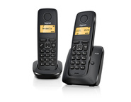 Telefon analogic Gigaset A120 DUO  - Negru