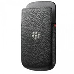 Husa Piele Blackberry Leather Pocket for Q10, HDW-50702-001, bulk - Black