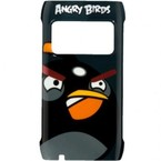 Capac protectie spate, Nokia N8, CC-5000 BLACK, Angry Birds  - Negru