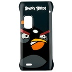 Capac protectie spate, Nokia E7, CC-5001 BLACK, Angry Birds  - Negru,