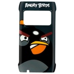 Capac protectie spate, Nokia X7, CC-5004 BLACK, Angry Birds - Negru