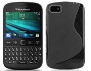 Husa silicon TPU BlackBerry 9720 Wave - Negru