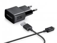 Incarcator retea Samsung ETA-U90E + Cablu USB ECB-DU4AB, 2A (2000mAh), bulk - Negru