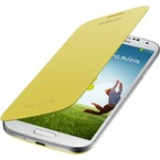 Husa Samsung Flip Cover pentru Samsung Galaxy S4 i9500, i9505, i9506, i9515, EF-FI950BYEGWW - Yellow