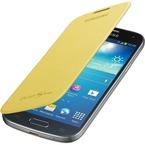 Husa Samsung Flip Cover pentru Galaxy S4 Mini i9190 / i9192 / i9195, EF-FI919BYEGWW - Galben