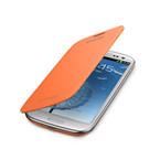 Husa Samsung Flip Cover Book Galaxy S3 i9300 / i9305, EFC-1G6FOECSTD, Bulk - Portocaliu