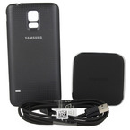 Kit Incarcare Wireless Samsung, Pad + Black Cover pentru Samsung Galaxy S5 G900, EP-WG900IBEGWW - Black