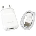 Incarcator retea universal Trendy8 Travel Charger Set Micro USB 1000mAh - White