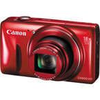 Aparat foto digital Canon Powershot SX600 HS : 16 MPx, 18x Zoom, LCD 3, Full HD - Rosu