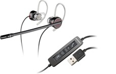 Casti cu microfon Plantronics Over-Head Blackwire C435-M USB, PC headset, EMEA - Black