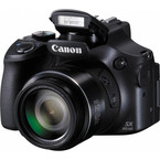Aparat foto digital Canon PowerShot SX60 HS Digital Camera : 16.1 MPx, 65x Zoom, LCD 3 inch, WiFi, NFC, FullHD - Black