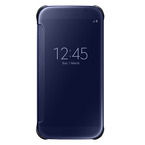 Husa tip Book Samsung Flip-Case Clear View EF-ZG920BBEGWW pentru Galaxy S6 SM-G920F - Blue Black