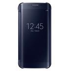 Husa tip Book Samsung Flip-Case Clear View EF-ZG925BBEGWW pentru Galaxy S6 Edge SM-G925F - Black