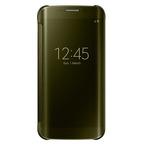 Husa tip Book Samsung Flip-Case Clear View EF-ZG925BFEGWW pentru Galaxy S6 Edge SM-G925F - Gold