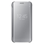 Husa tip Book Samsung Flip-Case Clear View EF-ZG925BSEGWW pentru Galaxy S6 Edge SM-G925F - Silver
