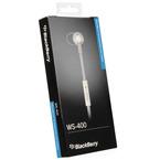 Casca cu fir mono premium BlackBerry headset WS-400, ACC-55352-002 - White