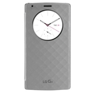 Husa tip Book Lg Quick Circle CFV-100 Snap On Case pentru Lg G4, H815 - Silver
