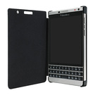 Husa tip Book BlackBerry Leather Flip Case ACC-62023-001 pentru BlackBerry Passport Silver Edition / Dallas - Black