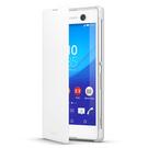 Husa tip Book Sony Flip Case Style Cover Window SCR48 pentru Sony Xperia M5 - White
