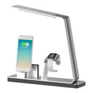 Incarcator stand MiTagg NuDock Power Lamp Station pentru iPhone 6 / 6S / 6 Plus / 6S Plus si Apple Watch - Silver