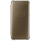 Husa Samsung tip Book Flip-Case Clear View, EF-ZG935CFEGWW pentru Samsung Galaxy S7 Edge, SM-G935 - Gold