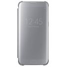 Husa Samsung tip Book Flip-Case Clear View, EF-ZG935CSEGWW pentru Samsung Galaxy S7 Edge, SM-G935 - Silver