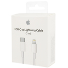 Cablu de date Apple Lightning - USB Type-C, MK0X2, 1m - White