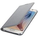 Husa tip Book Samsung Flip Case Wallet Fabric EF-WG920BSEGWW pentru Samsung Galaxy S6 SM-G920F - Silver