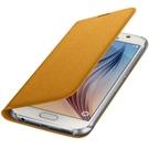 Husa tip Book Samsung Flip Case Wallet Fabric EF-WG920BYEGWW pentru Samsung Galaxy S6 SM-G920F - Yellow