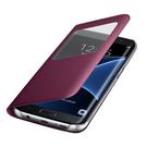 Husa Samsung tip Book Cover S-View, EF-CG935PXEGWW pentru Samsung Galaxy S7 Edge, G935F - Burgundy