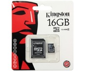 Card de memorie Kingston 16Gb Micro SDHC Class 10 + Adaptor SD