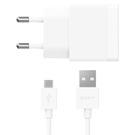 Incarcator Retea Sony Quick Charger EP881, 1500mA + cablu micro-USB - White