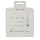 Cablu de Date Samsung 3-in-1 Multi Charging Cable EP-MN930GWEGWW (3x micro-USB, 1x USB Type-C) - White