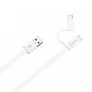 Cablu de date si incarcare Huawei 2 in 1, AP55S USB Type-A la Type-C + Micro-USB, 1.5m - White