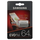 Card de memorie Samsung microSD 64GB EVO Plus UHS-1 2017 (SD Adapter), MB-MC64GA/EU