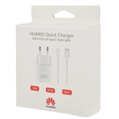 Incarcator Retea Huawei Super Charger / Fast Charger AP32 + cablu USB Type-C 100 cm, HW-059200EHQ - White