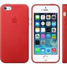 Husa protectie spate originala Apple, Leather Case pentru iPhone 5 / 5S / SE, MF046LL/A - Red