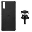 Set Huawei Car Kit (Husa Protectie Spate + Magnetic Car Holder) pentru Huawei P20 - Black