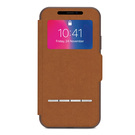 Husa tip Book Moshi SenseCover pentru Apple iPhone X - Caramel Brown