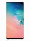 Husa Protectie Spate Samsung Silicone Cover pentru Samsung Galaxy S10 Plus, EF-PG975TWEGWW - White
