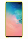 Husa Protectie Spate Samsung Silicone Cover pentru Samsung Galaxy S10 Plus, EF-PG975TYEGWW - Yellow