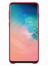 Husa Protectie Spate Samsung Leather Cover pentru Samsung Galaxy S10, EF-VG973LREGWW - Red