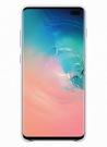 Husa Protectie Spate Samsung Leather Cover pentru Samsung Galaxy S10 Plus, EF-VG975LWEGWW - White