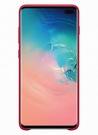 Husa Protectie Spate Samsung Leather Cover pentru Samsung Galaxy S10 Plus, EF-VG975LREGWW - Red