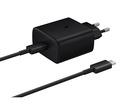 Incarcator Samsung EP-TA845XBEGWW, Super Fast Charging (Max. 45W), Cablu Type-C inclus - Black