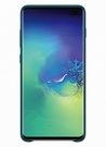 Husa Protectie Spate Samsung Leather Cover pentru Samsung Galaxy S10 Plus, EF-VG975LGEGWW Resigilat - Green