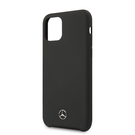 Husa Mercedes-Benz Liquid Silicone Cover for iPhone 11 Pro, MEHCN58SILBK - Black