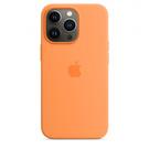 Husa de protectie Apple Silicone Case MagSafe pentru iPhone 13 Pro Max, mm2m3zm/a, (Seasonal Fall 2021) - Marigold